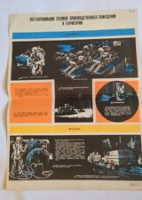 "Soviet Poster Chernobyl Radiation Protection Metro stalker Nuclear USSR 23.2""☭"