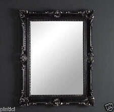 SPECCHIO muro nero argento antico barocco grande 90X70 BAGNO 3057ss