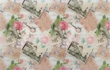 EDIBLE PATTERNED RICE WAFER PAPER FLORAL VINTAGE SHABBY CHIC CAKE TOPPER WRAP