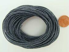10 mètres fil cordon COTON CIRE NOIR 2mm echeveau lacet DIY bijoux déco loisirs