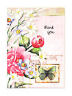 Flowers and Butterfly Thank You Greeting Cards