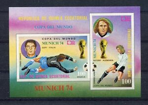S5166) Guinea Ecuatorial 1974 MNH Wc Football -coppa World Cup S/S Imperf
