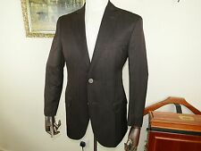 ERMENEGILDO ZEGNA Comme neuf! Leather Collar Jacket Silk Sport Coat 40 UK 50 Italian