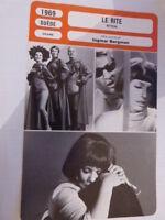 FICHE CINEMA,LE RITE , INGMAR BERGMAN ,ingrid thulin, anders ek, 1969