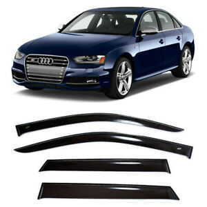 For Audi A4 B8/8K Sd 2008-2015 Window Visors Side Sun Rain Guard Vent Deflectors
