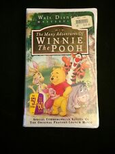 Many Adventures of Winnie the Pooh, Walt Disney Masterpiece VHS .New & Sealed.