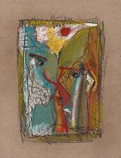 Résumé visages dans le style de Picasso Pastel Dessin 2013 indistinctes signature