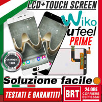 "LCD+TOUCH SCREEN PER WIKO U FEEL PRIME UFEEL 5,0"" DISPLAY VETRO SCHERMO_BRT 24H!"
