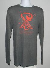 Mens Oakley Grip long sleeve thermal shirt XXL gray red ski mask logo