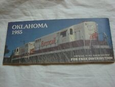 1985 Oklahoma Official State Railroad Map