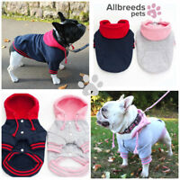 Allbreeds Dog Hoody Jumper Cotton Winter Coat Puppy French Bulldog Jacket Pug XS
