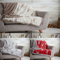 Stag Throw For Double King Size Super Soft Warm Teddy Blanket Throw Winter