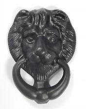 Eisen Türklopfer Löwentürklopfer Löwe schwarz lackiert
