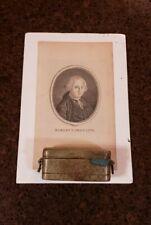 Museum Pieces! Circa 1760S Major General Lord Robert Clive Opium Box & Photo