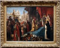 """oil painting handpainted on canvas """"The Return of Christopher Columbus """""""