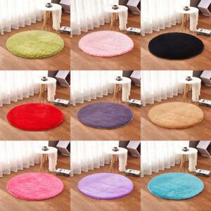 Living room Carpet Bedroom Floor Mat Circle Round Soft Shaggy Area Round Rug