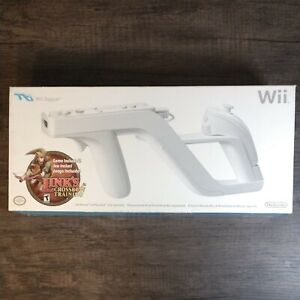 Original White Nintendo Wii Zapper w/ Link's Crossbow Training New! See pictures