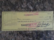 Rod Gilbert Autographed Check Certified PSA/DNA