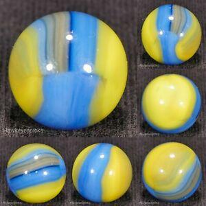 Marble King 70's-90's Brown Stripe Boyscout Marble 9/16+ mint hawkeyespicks sg