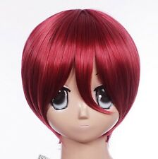 W-463 Vocaloid meiko Gaara Naruto Rouge Red 30 cm Cosplay Perruque Wig Courte Cheveux