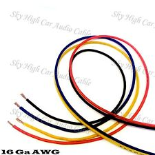 25' EACH RED, BLUE, BLACK, YELLOW - 100 ft 16 Ga AWG Primary / Remote Wire Lead