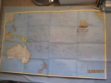 DISCOVERERS OF THE ISLANDS OF THE PACIFIC MAP National Geographic December 1974