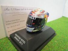 ARAI HELMET CASQUE F1 S.VETTEL MONACO 2011 au 1/8 MINICHAMPS 381110101 miniature