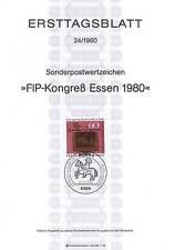 BRD 1980: FIP-Congresso mangiare! solo tag foglio nr 1065 con Bonner timbro speciale! 154