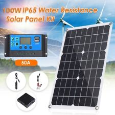 New 20W Solar Panel Kit water resistance 12V Usb With 50A/ Usb Battery Charger