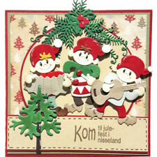 Christmas band DIY Stencils Cutting Dies Scrapbooking Embossing Card Paper Dec X