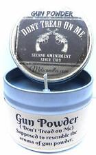 Gun Powder 8 Oz All Natural Soy Candle Tin Approximate Burn Time 8 Hours per Oun