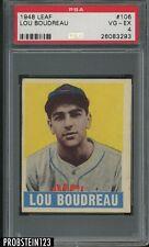 1948 Leaf #106 Lou Boudreau Cleveland Indians RC Rookie HOF PSA 4 VG-EX