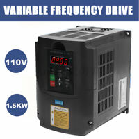 1.5KW 2HP 110V VARIABLE FREQUENCY DRIVE INVERTER VFD VSD Single To 3 Phase NEW