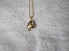 Ex-display de color oro Collar de corazón con campana interior