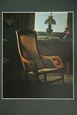 Amish Country Cane Back Rocking Chair Art Photo Print By James A. Warner, 1969