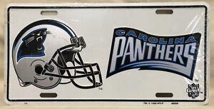 Carolina Panthers Football Helmet Logo License Plate - NEW - 1996 NOS NFL
