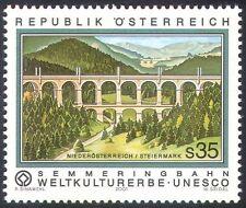 Austria 2001 UNESCO/Railway/Rail/Viaduct/Bridge/Buildings/Heritage 1v (n35423)