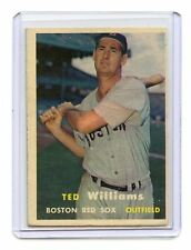 1957 TOPPS #1 TED WILLIAMS - BOSTON RED SOX, HOF