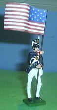 TOY SOLDIERS METAL NORTH AMERICAN WAR OF 1812 AMERICAN SOLDIER FLAG BEARER 54MM