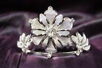 Bridal Wedding Party Tiara Crown with Flower Crystal
