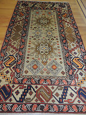 4x6 5x7 Tribal Indian Oriental Area Rug semi-antique geometric orange rust