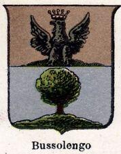 : piccolo Stemma 1901 ora Gassino Torinese Bussolino Gassinese Cromolitografia