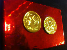 1 GOLD dime Genuine Pure 24 Karat 7 mils Gold layered USA 10 cent MINT,UNC