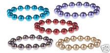 Set of 5 Glass Pearl Bracelets Stretch $100 Retail Valu