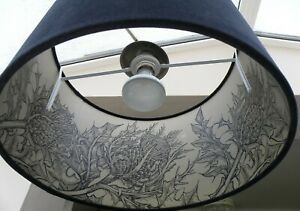 Bespoke Timorous Beasties Thistle and Velvet Lampshades  35 or 40 cm