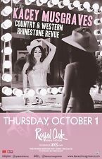 """KACEY MUSGRAVES """"COUNTRY RHINESTONE REVUE"""" 2015 DETROIT CONCERT TOUR POSTER"""
