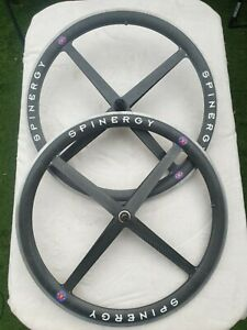 Spinergy Rev X Carbon Wheelset 10 speed Shimano Freehub  Very Good Condition !!!