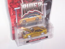 1993 FORD MUSTANG COBRA SVT FOXBODY URBAN RIDEZ GOLD 1/64 DIECAST NEW IN PACKAGE