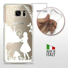 Samsung Galaxy S7 CASE COVER PROTETTIVA GEL TRASPARENTE Disney Alice White
