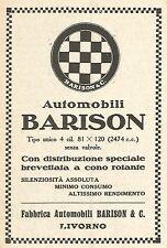 Y2898 Automobili BARISON - Livorno - Pubblicità del 1923 - Old advertising